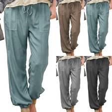 Plus Size Womens Plain Loose Jogging Trousers Sweatpants Casual Joggers Bottoms