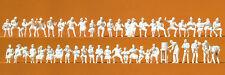 Preiser 16356 dans le jardin de bière, 46 figurines non-peintes, H0