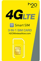 H20 AT&T Prepaid Nano Sim USA Travel Sim Card Kit Apple & Android Device