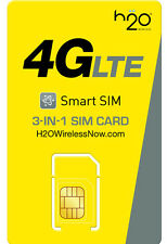 H20 AT&T 3 in 1 Prepaid Micro Sim USA Travel Sim Card Kit Apple & Android Device