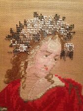 Gorgeous Antique Victorian Beadwork Beaded Needlepoint Panel