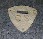"Civil War VERY RARE Confederate ""CS"" Saddle Shield (Pewter) Dug Richmond, Va"