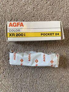 Sealed 1 Roll AGFA XR 200i Pocket 24 Color Print Film 110-24 Exp 9/90