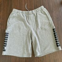 PUMA Men's Sweat Shorts Jogger Shorts, Gray Heather Size XL PUMA on The Side