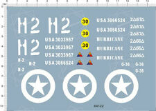 1/16 1/18 Scale WWII US Army sherman tank h2 Model Kit Water Slide Decal 64122