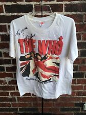 John Entwistle Autograph THE WHO XL T-SHIRT THE KIDS ARE ALRIGHT TOUR 1989