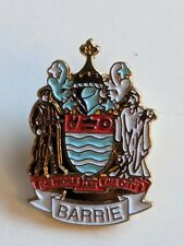 The City of Barrie Lapel Pin Ontario Travel Souvenir Crest Coat of Arms