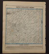 Illinois Adams County Map Gilmer Township 1872 K18#11
