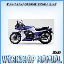 KAWASAKI GPZ900R ZX900A BIKE WORKSHOP SERVICE REPAIR MANUAL IN DISC