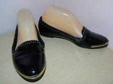 Aldo black slip on loafers flat shoes uk 4 eur 37