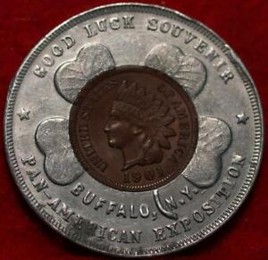 1901 Encased Penny Token Buffalo NY