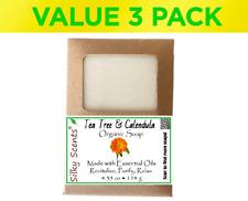 Tea Tree & Calendula Certified Organic Soap Bars - 3 Pack (13.05 ounces) GMO Fre