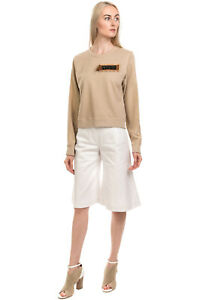 RRP€175 ALYSI Sweatshirt Size 42 S Contrast Silk Embellished Patch Made in Italy