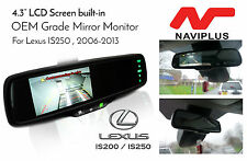 Lexus IS250 / 350 OEM Grade Fit Rear view Mirror Monitor + Reverse Camera Kit