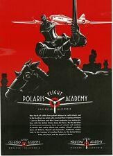 1942 POLARIS FLIGHT ACADEMY Lancaster CA pilot training art Vintage Print Ad