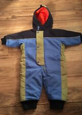 Hanna Andersson Outdoor Boys Snowsuit Size 70 Size 6-12 Months Winter Blue Green