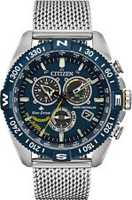 Citizen CB5848-57L Men's Stainless Steel Promaster Navihawk Blue Angels Watch