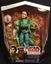 Star Wars Forces Of Destiny Princess Leia 11in. Doll & Wicket The Ewok New 2016