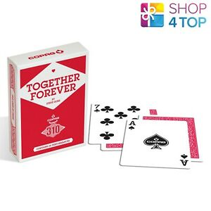 COPAG 310 TOGETHER FOREVER POKER PLAYING CARDS DECK PAPER STANDARD INDEX RED NEW