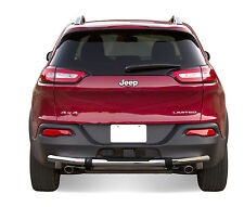 2014-2018 Jeep Cherokee Rear Bumper Protector Guard Protector Stainless With PAD