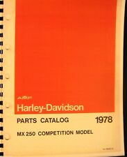 1978 Harley-Davidson MX-250 Parts & Owners Manual Set two Books FSH
