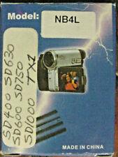 NB-4L 850m Ah Battery | FOR Canon SD400 SD630 SD600 SD750 SD1000 SD1100 TX1 |USA