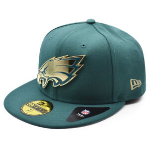 Philadelphia Eagles NFL The Metal Touch 59FIFTY Fitted Hat - Green/Gold