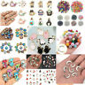 100x 3D Metal Mixed Charm Bulk Pendant Jewelry Findings DIY Craft Accessories
