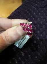 925 Sterling Silver ruby Ring Size u New
