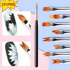 8*/Set Acrylic Nail Art Brush Sable Gel UV Nail Painting Flower Drawing Pens