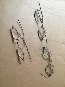 3 Victorian Era Eye Glasses