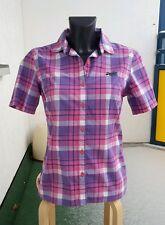 Superdry Damen Hemd Bluse, Größe S, checked pink kariert