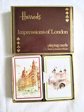 Coffret Jeux de Cartes (2x54) Harrods. Impressions of London - Piatnik