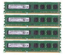 4X 4GB Micron Intel 2Rx8 PC3-12800U DDR3 1600Mhz Desktop Memory RAM DIMM NON-ECC