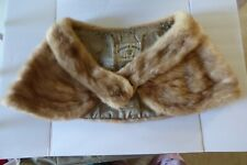 Canada Mink Cmb Majestic Pastel Mink Stole Wrap Collar Hook Clasp Lined