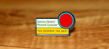 Siemens Nixdorf Personal computer Vintage Old Collectible Rare Promo Pin Badge