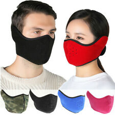 Sports Bike Bicycle Windproof Winter Warm Fleece Cycling Half Face Mask