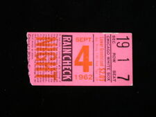 September 4, 1962 Cleveland Indians @ Chicago White Sox Ticket Stub