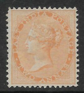STAMPS-INDIA. 1865. 2a Orange. Watermark Elephants Head.  SG: 62. Unused.
