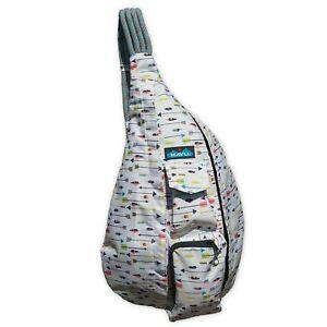 KAVU Rope Sling Bag Polyester Crossbody Shoulder Hiking Backpack - Arrow Dynamic