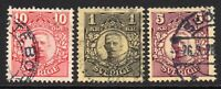 Sweden Part Set of Stamps c1910-14 Used (7386)
