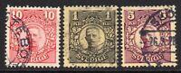 Sweden Part Set of Stamps c1910-14 Used (7386)