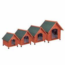 Hundehütte Hundehaus Haus Hunde Höhle Wetterfest Spitzdach Tierhaus Holz Outdoor