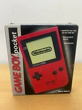 Red Nintendo Game Boy Pocket System Console with Box GREAT Shape