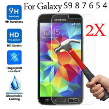 2pcs Tempered Glass Screen Protector Film For Samsung Galaxy S10 S9 S8 S7 S6 S5