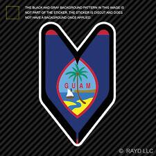 Guam Driver Badge Sticker Die Cut Decal wakaba leaf soshinoya guamanian GU