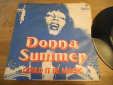 """DONNA SUMMER """"COULD IT BE MAGIC/WHISPERING WAVES"""" DANISH PRESSED 1976 SINGLE NCB"""