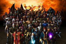 Game Poster 35x24 Mortal Kombat 9 All Heroes Combat Poster