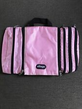 eBags Pack-it-Flat Hanging Toiletry Kit Cosmetics Bag Pink Large Zip Lined Cube