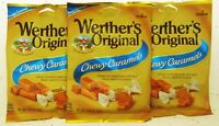 Werther's Chewy Caramels 2.4oz Bag Chews Blue Label Chewy Candies ~ Lot of 3